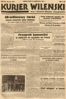 Kurjer Wileński wraz z Kurjerem Wileńsko-Nowogródzkim. 1937, nr281
