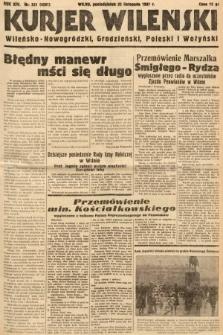 Kurjer Wileński, Wileńsko-Nowogródzki, Grodzieński, Poleski i Wołyński. 1937, nr321