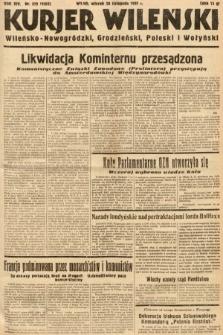 Kurjer Wileński, Wileńsko-Nowogródzki, Grodzieński, Poleski i Wołyński. 1937, nr329