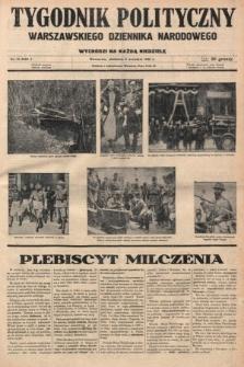 Tygodnik Polityczny Warszawskiego Dziennika Narodowego : wychodzi na każdą niedzielę. 1935, nr15