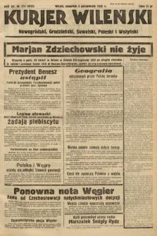Kurjer Wileński, Nowogródzki, Grodzieński, Suwalski, Poleski i Wołyński. 1938, nr274