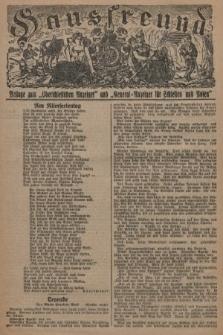 """Hausfreund : Beilage zum """"Oberschlesischen Anzeiger"""" und """"General-Anzeiger für Schlesien und Posen"""". 1929, [nr4]"""