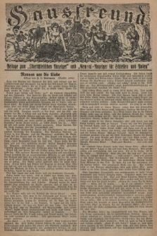 """Hausfreund : Beilage zum """"Oberschlesischen Anzeiger"""" und """"General-Anzeiger für Schlesien und Posen"""". 1929, [nr8]"""