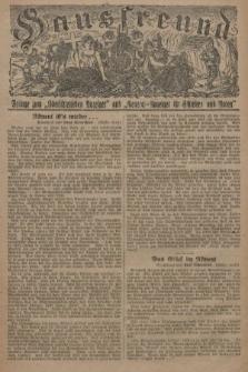 """Hausfreund : Beilage zum """"Oberschlesischen Anzeiger"""" und """"General-Anzeiger für Schlesien und Posen"""". 1929, [nr27]"""
