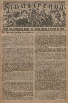 """Hausfreund : Beilage zum """"Oberschlesischen Anzeiger"""" und """"General-Anzeiger für Schlesien und Posen"""". 1929, [nr36]"""