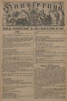"""Hausfreund : Beilage zum """"Oberschlesischen Anzeiger"""" und """"General-Anzeiger für Schlesien und Posen"""". 1929, [nr37]"""