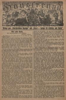 """Hausfreund : Beilage zum """"Oberschlesischen Anzeiger"""" und """"General-Anzeiger für Schlesien und Posen"""". 1929, [nr48]"""