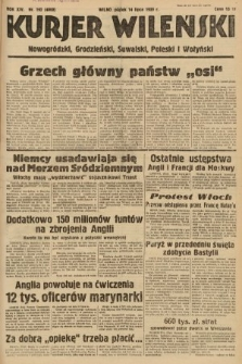 Kurjer Wileński, Nowogródzki, Grodzieński, Suwalski, Poleski i Wołyński. 1939, nr192