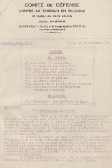 Comité de Défense Contre la Terreur en Pologne et dans les Pays Baltes. 1928, nr2