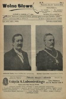 Wolne Słowo : czasopismo ilustrowane, poświęcone polityce, sprawom ogólno-społecznym, literaturze i sztuce. 1906, nr15
