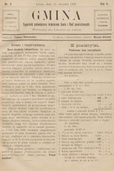 Gmina : tygodnik poświęcony interesom gmin i rad powiatowych. 1907, nr2