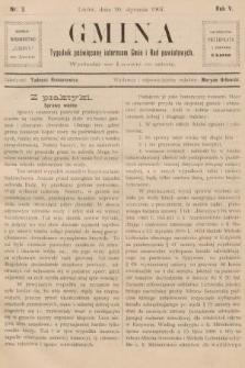 Gmina : tygodnik poświęcony interesom gmin i rad powiatowych. 1907, nr3