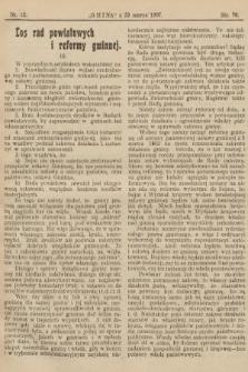 Gmina : tygodnik poświęcony interesom gmin i rad powiatowych. 1907, nr12
