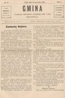 Gmina : tygodnik poświęcony interesom gmin i rad powiatowych. 1907, nr21