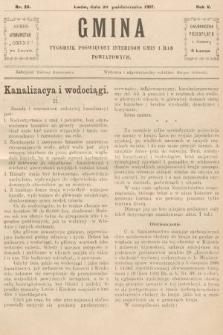 Gmina : tygodnik poświęcony interesom gmin i rad powiatowych. 1907, nr26