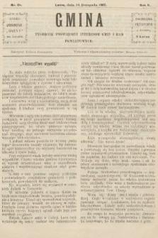Gmina : tygodnik poświęcony interesom gmin i rad powiatowych. 1907, nr28