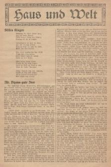 Haus und Welt. [1927], [nr40]