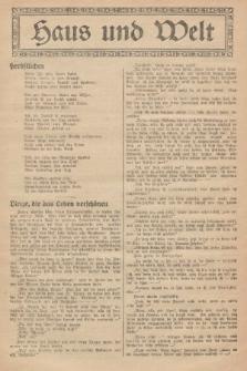 Haus und Welt. [1927], [nr41]