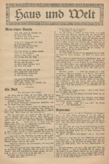 Haus und Welt. [1927], [nr47]