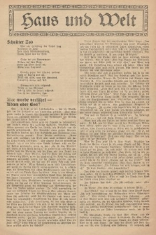 Haus und Welt. [1927], [nr50]