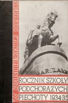 W Żołnierskiej Służbie : rocznik Szkoły Podchorążych Piechoty. 1934-1935