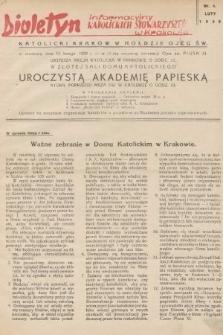 Biuletyn Informacyjny Katolickich Stowarzyszeń w Krakowie. 1939, nr4