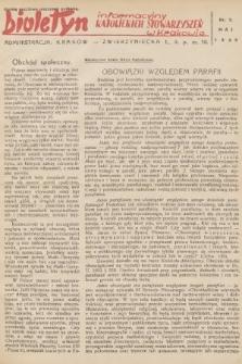 Biuletyn Informacyjny Katolickich Stowarzyszeń w Krakowie. 1939, nr7
