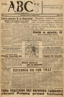 ABC : nowiny codzienne. 1937, nr1