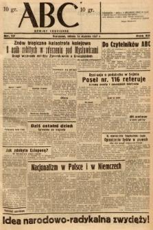 ABC : nowiny codzienne. 1937, nr17