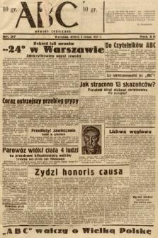 ABC : nowiny codzienne. 1937, nr37
