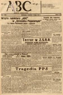 ABC : nowiny codzienne. 1937, nr39