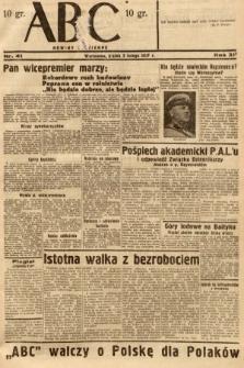 ABC : nowiny codzienne. 1937, nr41 [ocenzurowany]
