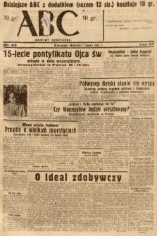 ABC : nowiny codzienne. 1937, nr43