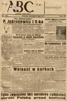 ABC : nowiny codzienne. 1937, nr44