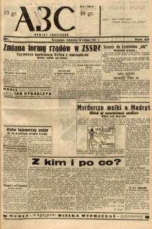 ABC : nowiny codzienne. 1937, nr53 [ocenzurowany]