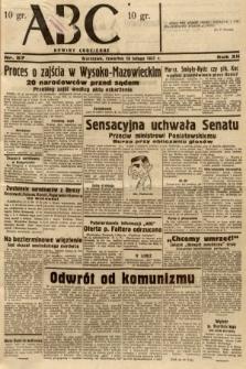 ABC : nowiny codzienne. 1937, nr57