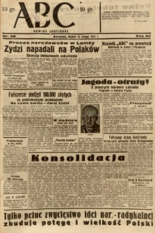 ABC : nowiny codzienne. 1937, nr58