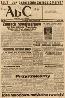 ABC : nowiny codzienne. 1937, nr67