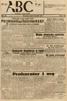 ABC : nowiny codzienne. 1937, nr111