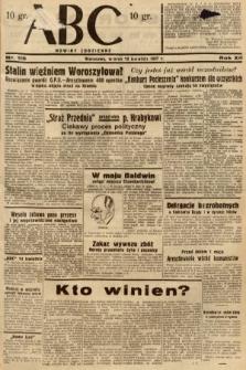ABC : nowiny codzienne. 1937, nr115
