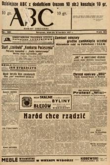 ABC : nowiny codzienne. 1937, nr121