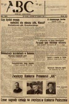 ABC : nowiny codzienne. 1937, nr125