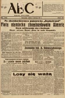ABC : nowiny codzienne. 1937, nr170