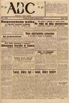 ABC : nowiny codzienne. 1937, nr172