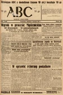 ABC : nowiny codzienne. 1937, nr176