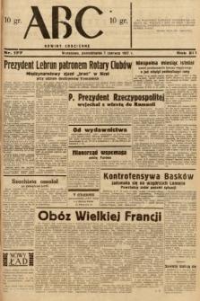 ABC : nowiny codzienne. 1937, nr177 [ocenzurowany]