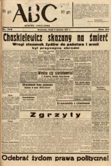 ABC : nowiny codzienne. 1937, nr179