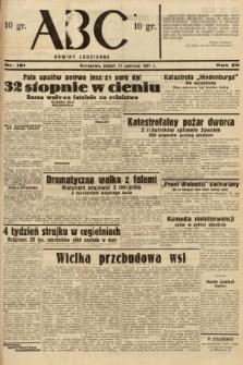 ABC : nowiny codzienne. 1937, nr181