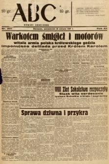 ABC : nowiny codzienne. 1937, nr201
