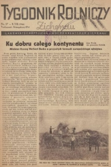 Tygodnik Rolniczy : Landwirtschaftliches Wochenblatt für Zichenau. 1944, nr27